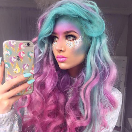 maquillage licorne halloween