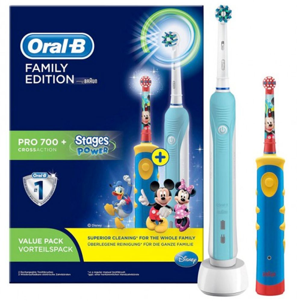 Oral-B - Family Edition Pro 700+ Cross Action et Stage Power Mickey