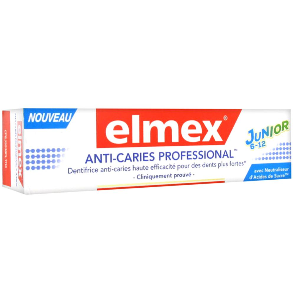 Elmex - Dentifrice Anticaries Professional Junior 6-12ans