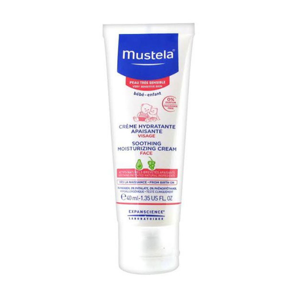 mustela cr me hydratante apaisante peau tr s sensible 40 ml. Black Bedroom Furniture Sets. Home Design Ideas