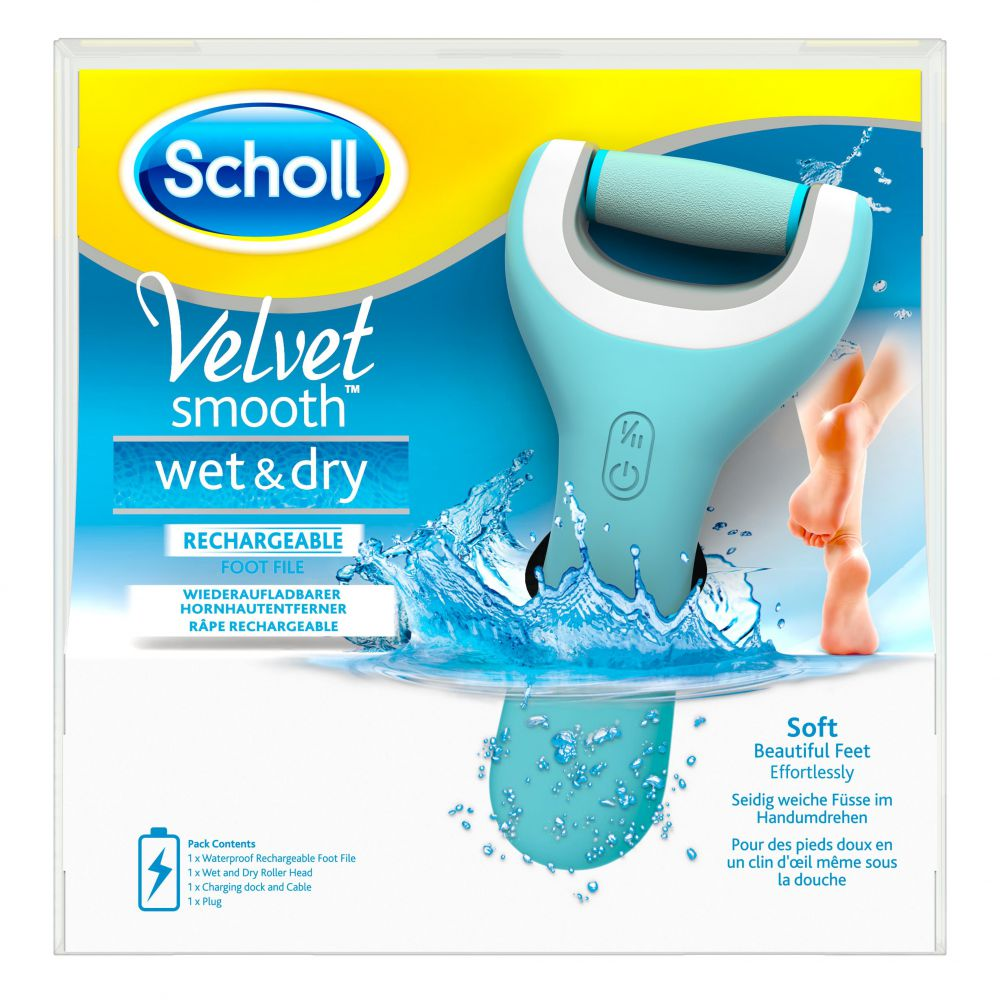 Scholl - Râpe électrique Velvet smooth wet & dry