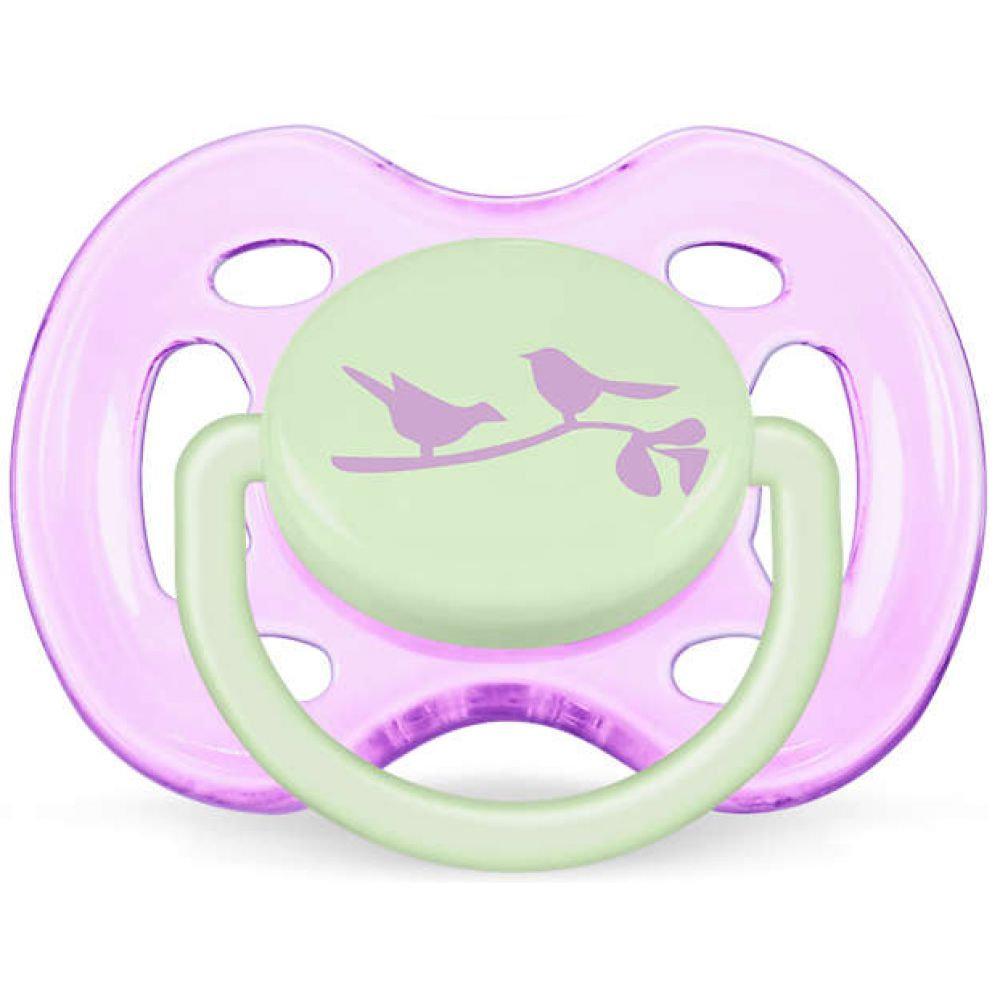 Avent - Sucettes orthodontiques fashion silicone 6-18 mois - 2 sucettes