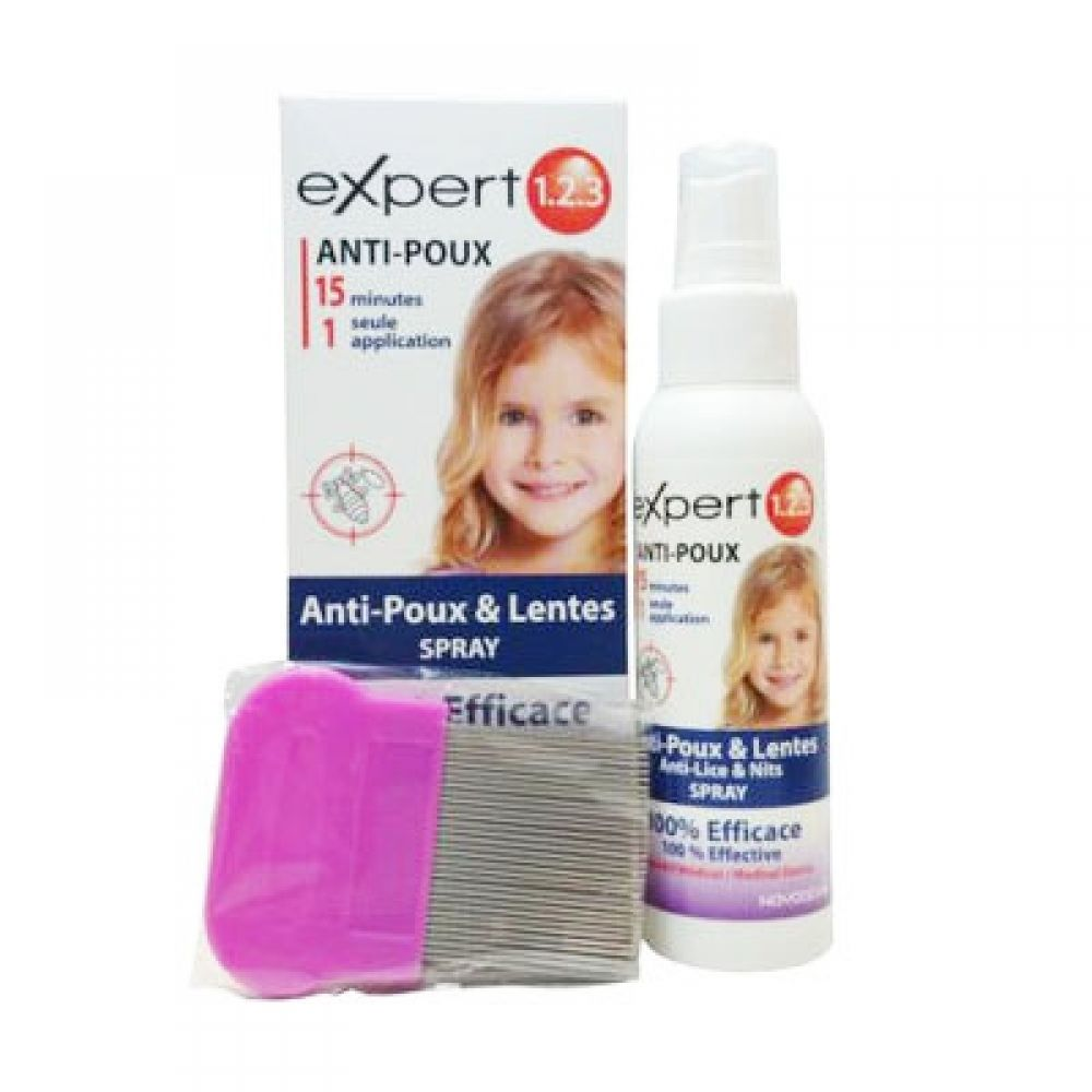 Expert 1.2.3 - Spray anti poux et lentes - 200ml