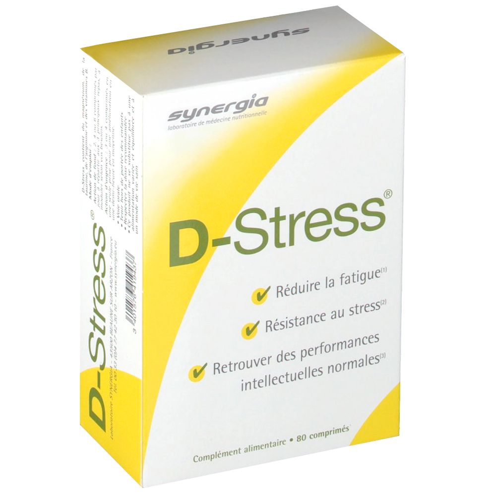 D-Stress - Fatigue & stress - 80 comprimés
