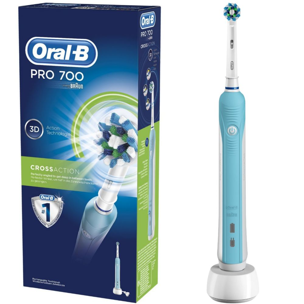 oral b pro 700 brosse dent electrique cross action. Black Bedroom Furniture Sets. Home Design Ideas