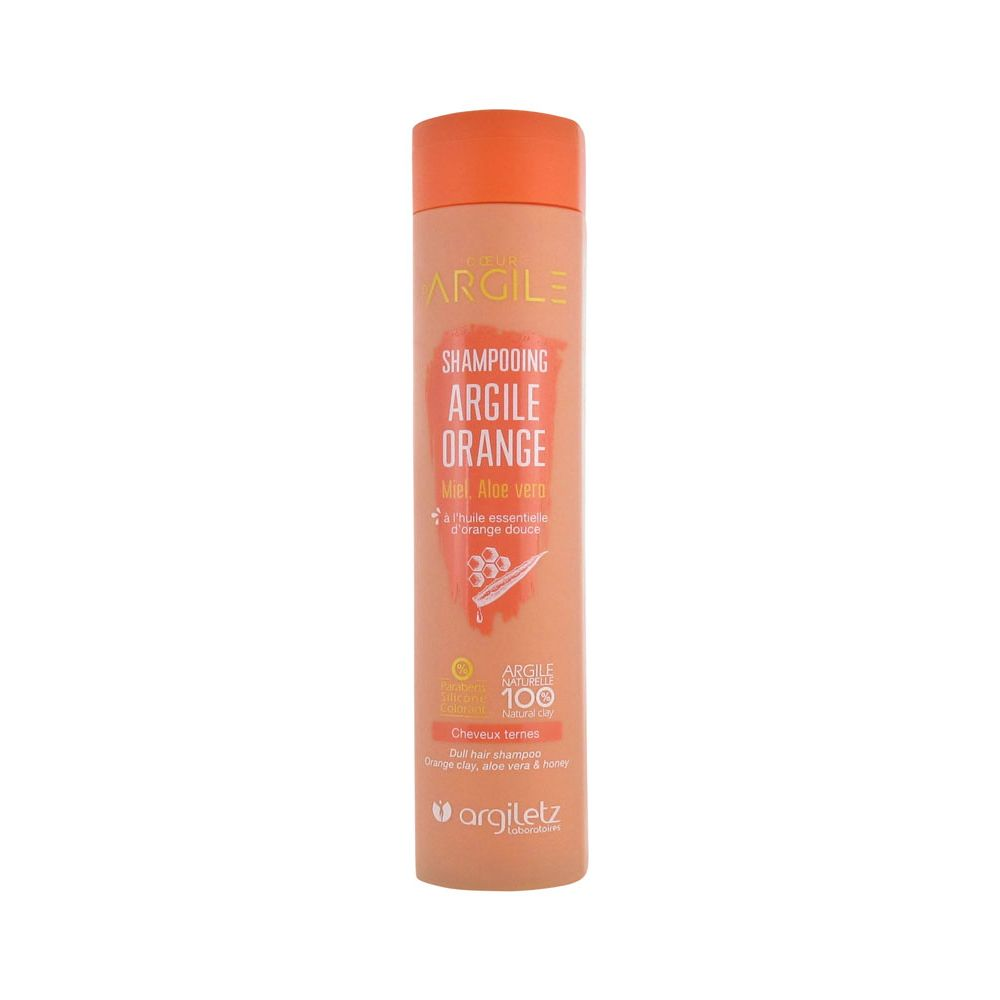 Argiletz - Shampooing argile orange cheveux ternes - 200 ml