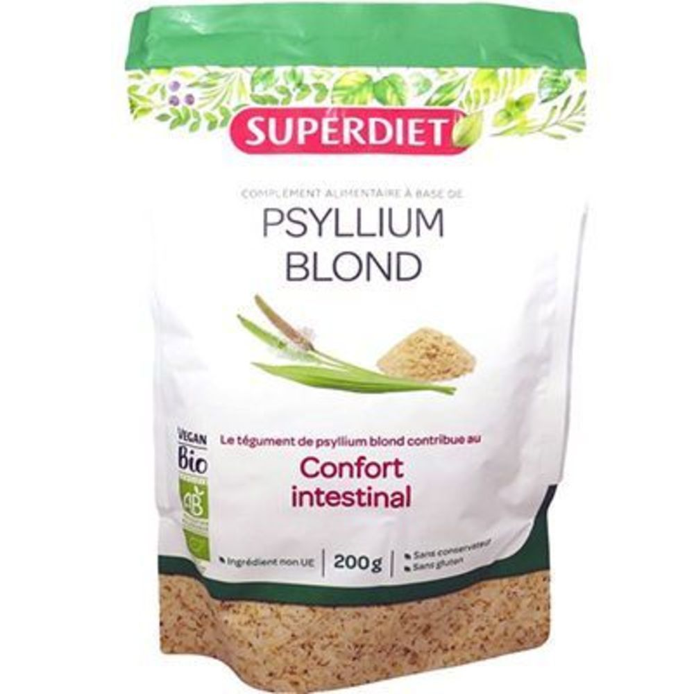Superdiet - Psyllium blond confort intestinal - 200 g