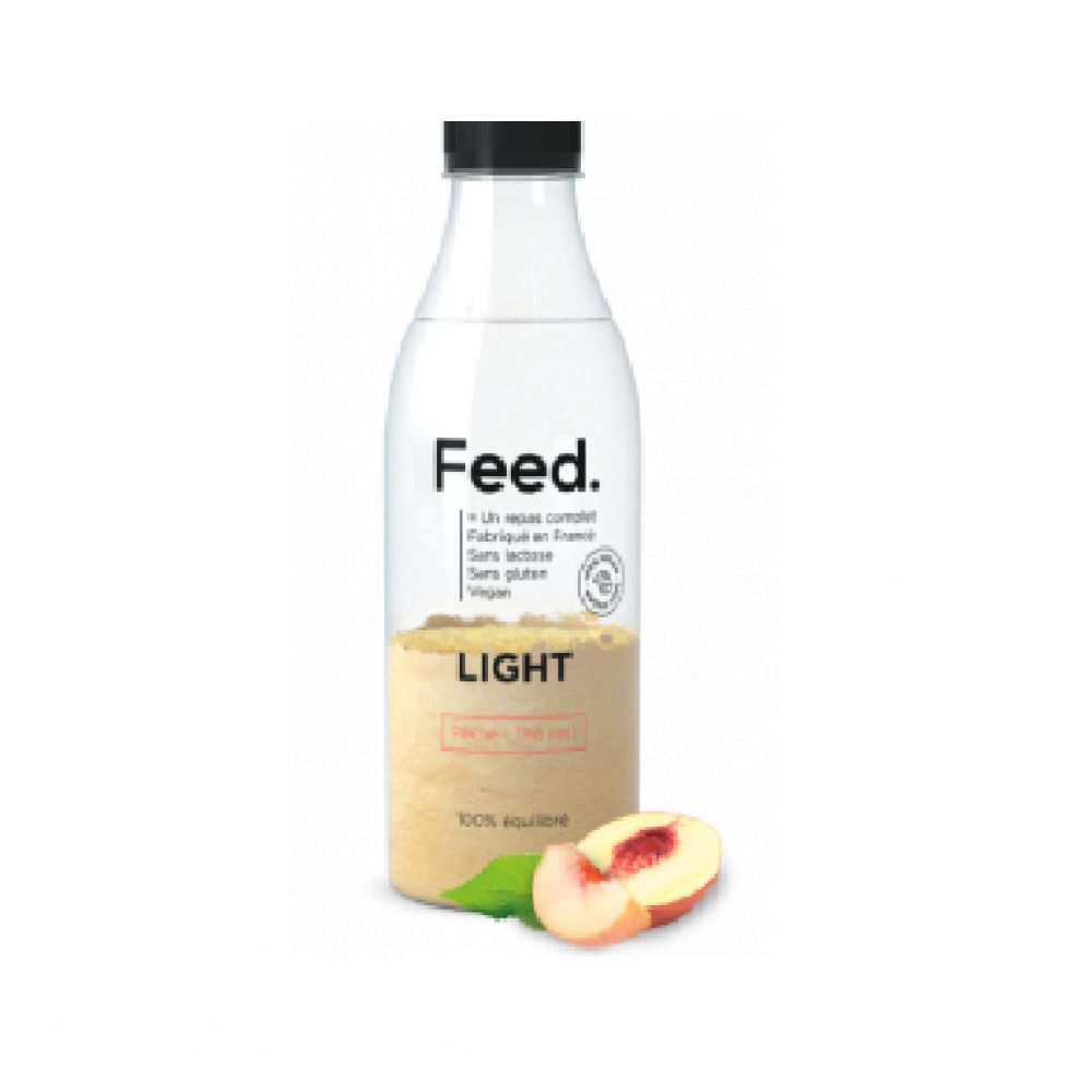 Feed - Bouteille repas complet light pêche thé vert - 90 g