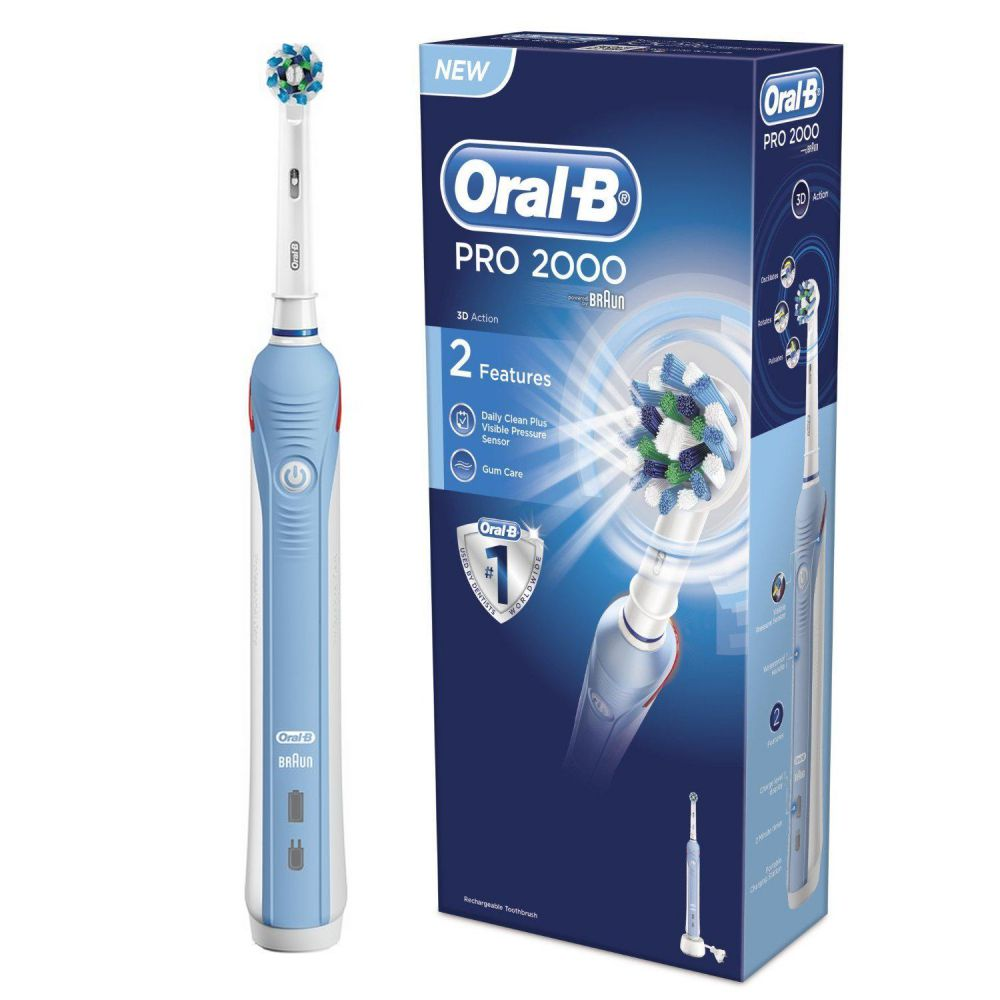 oral b brosse dents lectrique pro 2000. Black Bedroom Furniture Sets. Home Design Ideas
