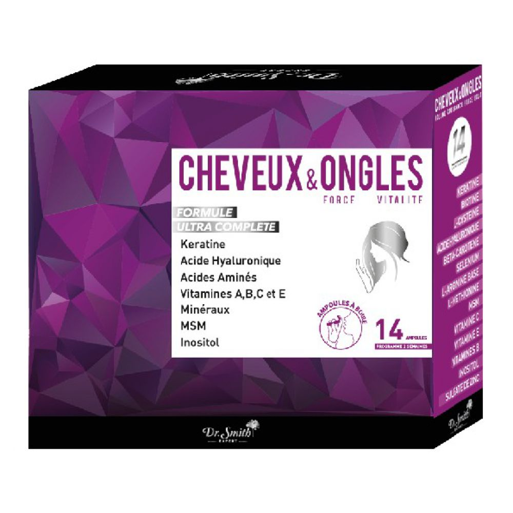 Dr. Smith Expert - Cheveux & Ongles - 14 ampoules