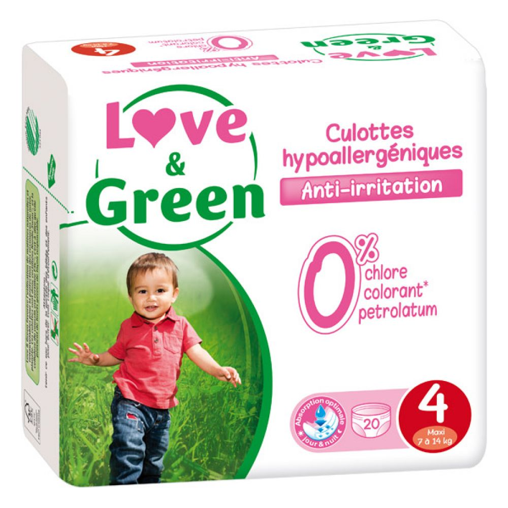 Love & Green - Culottes Taille 4 - 20 culottes