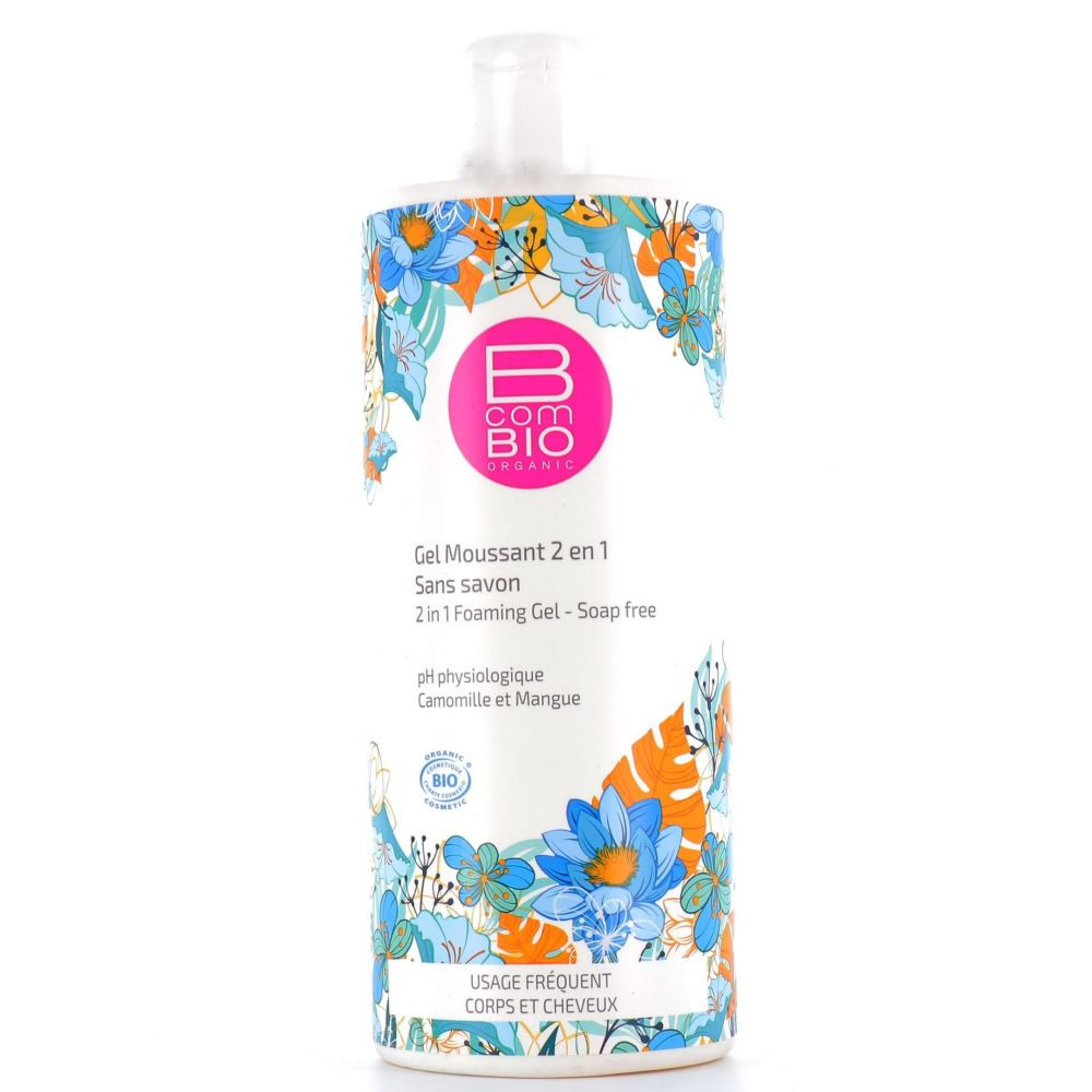 B com Bio - Gel moussant 2 en 1 - 500 ml