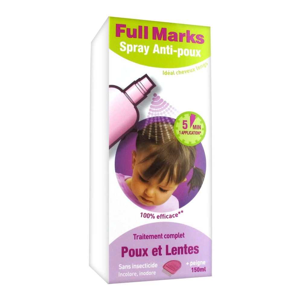 Full Marks - Spray Anti-poux traitement complet - 150 ml