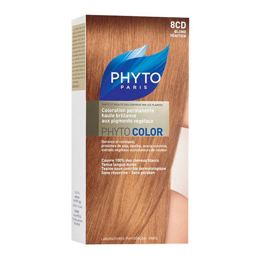 phyto phytocolor 8cd blond vnitien coloration soin permanente - Blond Vnitien Coloration