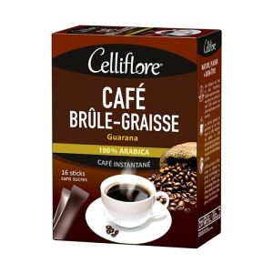 Celliflore - Café Brûle-Graisse Guarana - 16 sticks