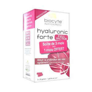 Biocyte - Hyaluronic forte full spectrum anti-âge - 3 x 30 gélules