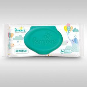 Pampers - Lingettes sensitives - 56 lingettes
