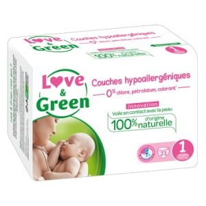 Love & Green - Couche Taille 1 - 23 couches