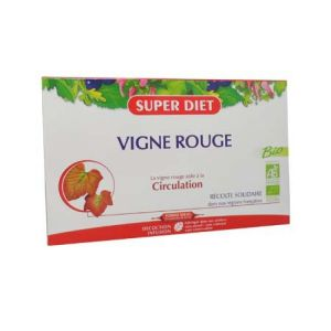 Superdiet - Vigne rouge - 20 ampoules 15 ml