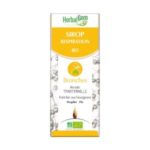 HerbalGem - Sirop respiration Bronches - 150ml