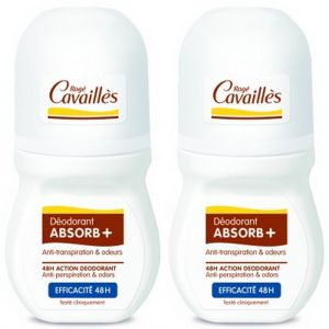 Rogé Cavaillè - Déodorant ABSORB+ efficacité 48h roll on - 2 x 50ml
