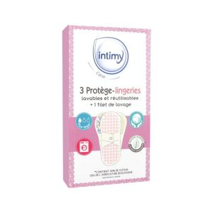 Intimy Care - 3 Protège-lingeries lavables et réutilisables + filet de lavage