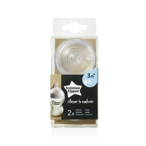 Tommee Tippee - 2 Tétines closer to nature 3m+ débit moyen