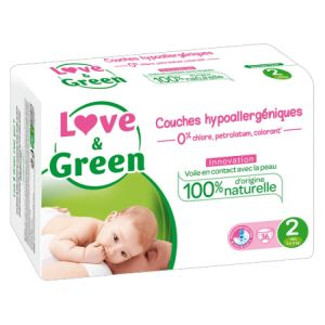 Love & Green - Couches Taille 2 - 36 couches