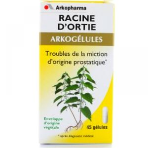 Arkopharma - Racine d'ortie Troubles de la miction d'origine prostatique - 45 gélules