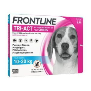 Frontline - Tri Act Chien 10-20kg - 3 pipettes