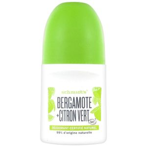 Schmidt's - Déodorant roll-on bergamote citron vert