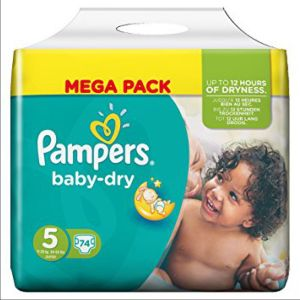 Pampers - Baby Dry - Taille 5 - 74 couches
