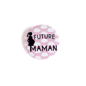 Future Maman - Badge nuages rose