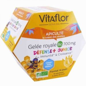 Vitaflor - Gelée royale bio 700 mg défense + junior - 14 unidoses