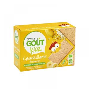 Good Goût Kidz - Croustillants banane - 6 sachets de 4 croustillants