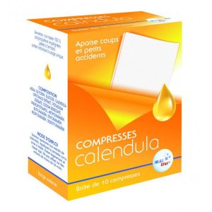 HECO Stop - calendula coups petits accidents - 10 compresses