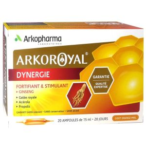 Arkoroyal - Dynergie fortifiant & stimulant - 20 ampoules