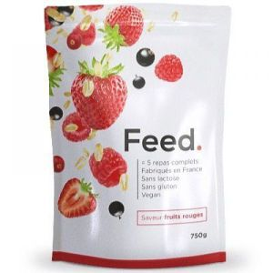 Feed - Poudre 5 repas complet saveur fruits rouge - 750 g