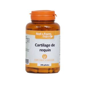 Nat & Form - Cartilage de requin - 200 gélules