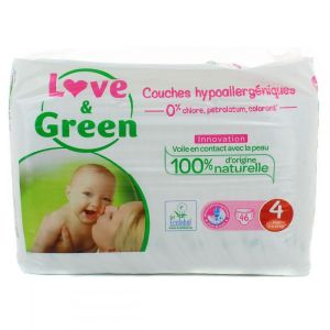 Love & Green - Couches Taille 4 - 46 couches