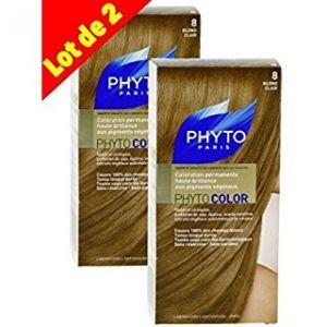 Phyto - Phytocolor 8 blond clair coloration soin permanente