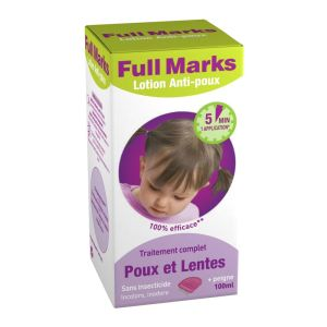 Full Marks - Lotion Anti-Poux traitement complet - 100 ml