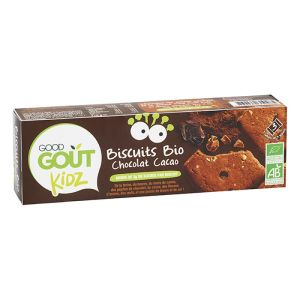Good Goût Kidz - Biscuits bio chocolat cacao - 3 lots de 3 biscuits