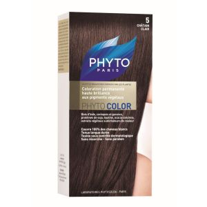 Phyto - Phytocolor 5 châtain clair coloration soin permanente