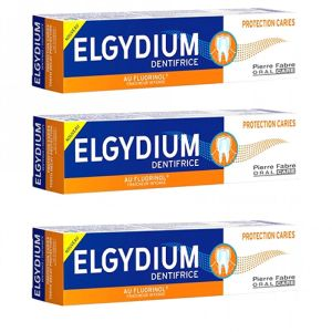 Elgydium - Dentifrice protection caries - 3 x 75ml