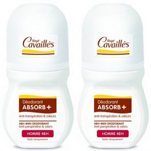 Rogé Cavailles - Déodorant ABSORB+ roll-on homme 48h - 2 x 50ml