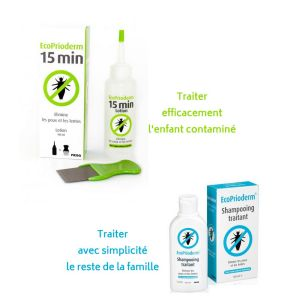 EcoPrioderm - Kit d'action rapide lotion + shampoing - 2 x 100ml