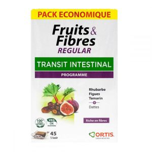 Fruits & fibres transit facile - Pack économique 45 cubes