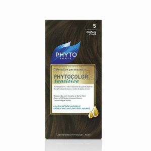 Phyto - Phytocolor sensitive - 5 chatain clair - coloration permamente