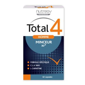 Nutreov - Total 4 Homme - Minceur 3D - 42 capsules